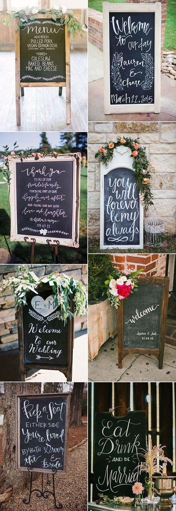 chalkboard wedding sign ideas for your big day