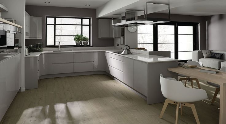 123 best Kitchen images on Pinterest Kitchens Home  : 79238f8f58106de67c03323582ff2aa0 grey gloss kitchen extension from www.pinterest.com size 736 x 404 jpeg 41kB