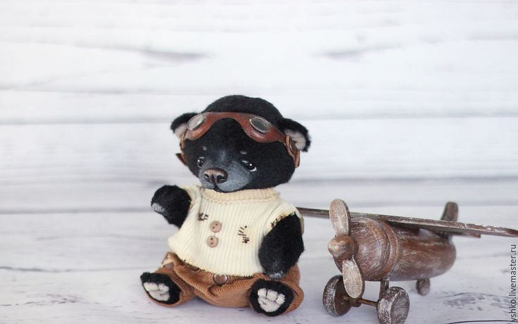 Купить Говард мишка тедди - черный, лисевич, мишка тедди, Плюшевый мишка