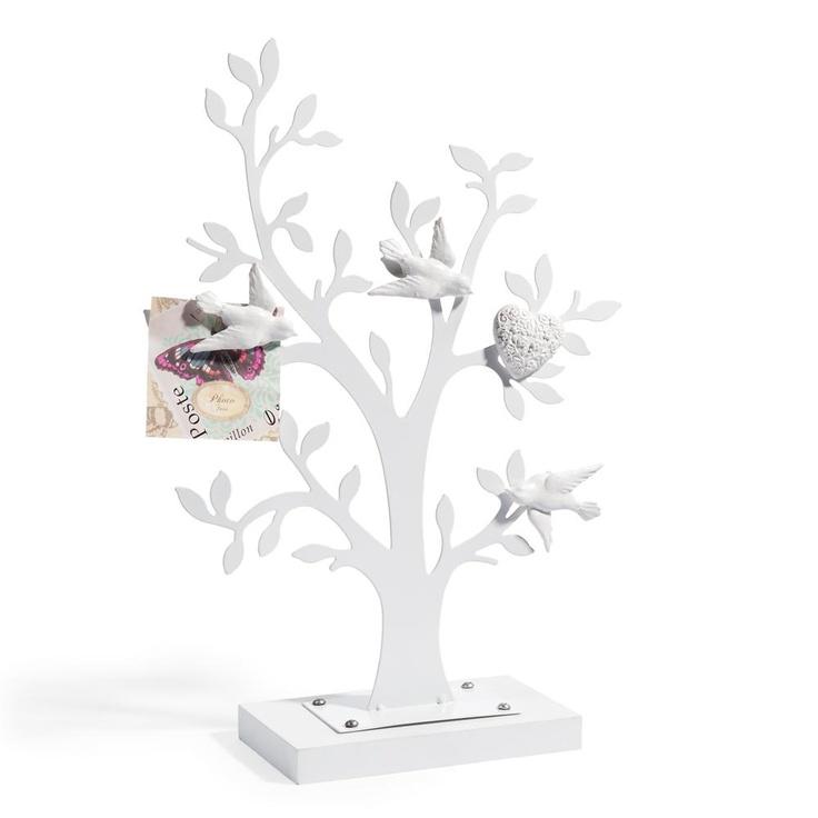 Tree white birds memo board