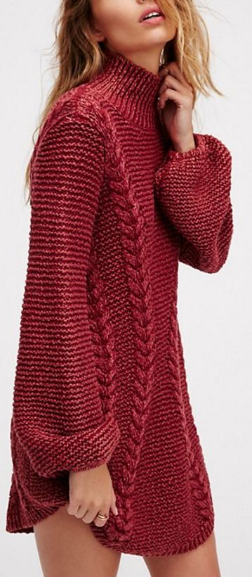 Super cute and cozy sweater dress - that's definitely knit-able for less than the $168 it's selling for :P