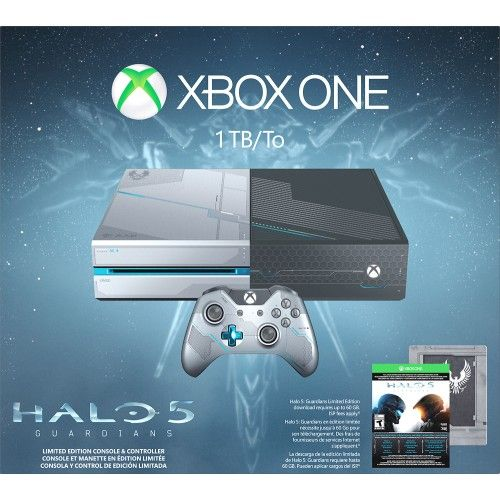 Microsoft - Xbox One Limited Edition Halo 5: Guardians Bundle - Custom - Front Zoom