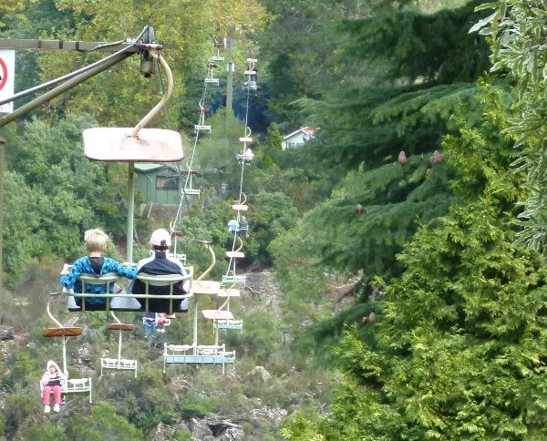 The Basin Chairlift at Cataract Gorge Reserve in Launceston. Photo by Jo Kuchel.
