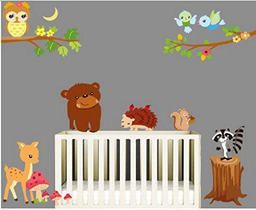 Simple Sunnicy Wandtattoo Wandsticker Dschungel Eulen auf dem Ast Die Welt der Tiere Wandbilder f r schlafzimmer