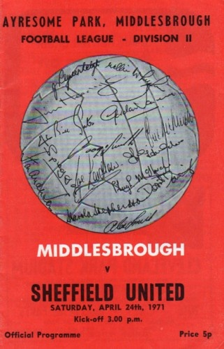 Middlesbrough vs Sheffield United 1971