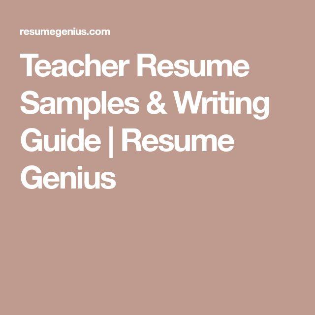The 25+ best Teacher resumes ideas on Pinterest Teaching resume - how to write a teacher resume
