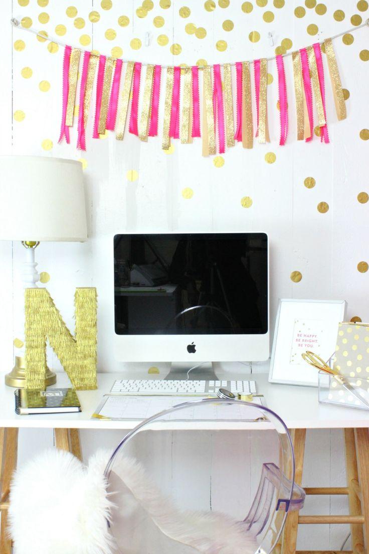 Gold Confetti Wall - www.classyclutter.net