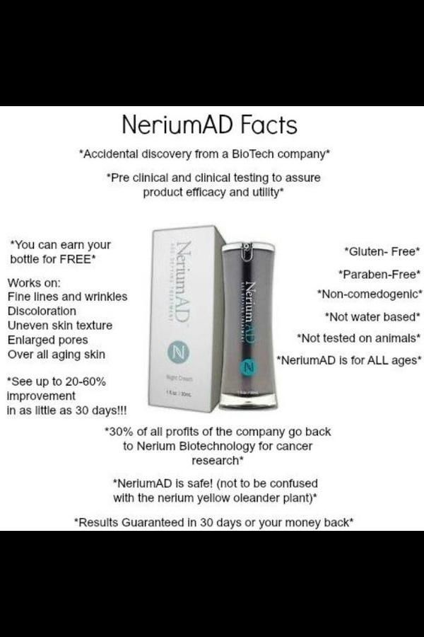 "Get the Nerium AD Facts and watch Video to learn more    TYPE ""Nerium AD by Brandi Fogle"" into the SEARCH box & LIKE my facebook page & Share it...When you do...I will Enter YOU into my drawling for a free bottle of NERIUM...     To learn more about Nerium, join my team or to order Nerium watch my VIDEO about NERIUM here: http://brandifogle1.nowsender.com/e/vd?hlwbg1"