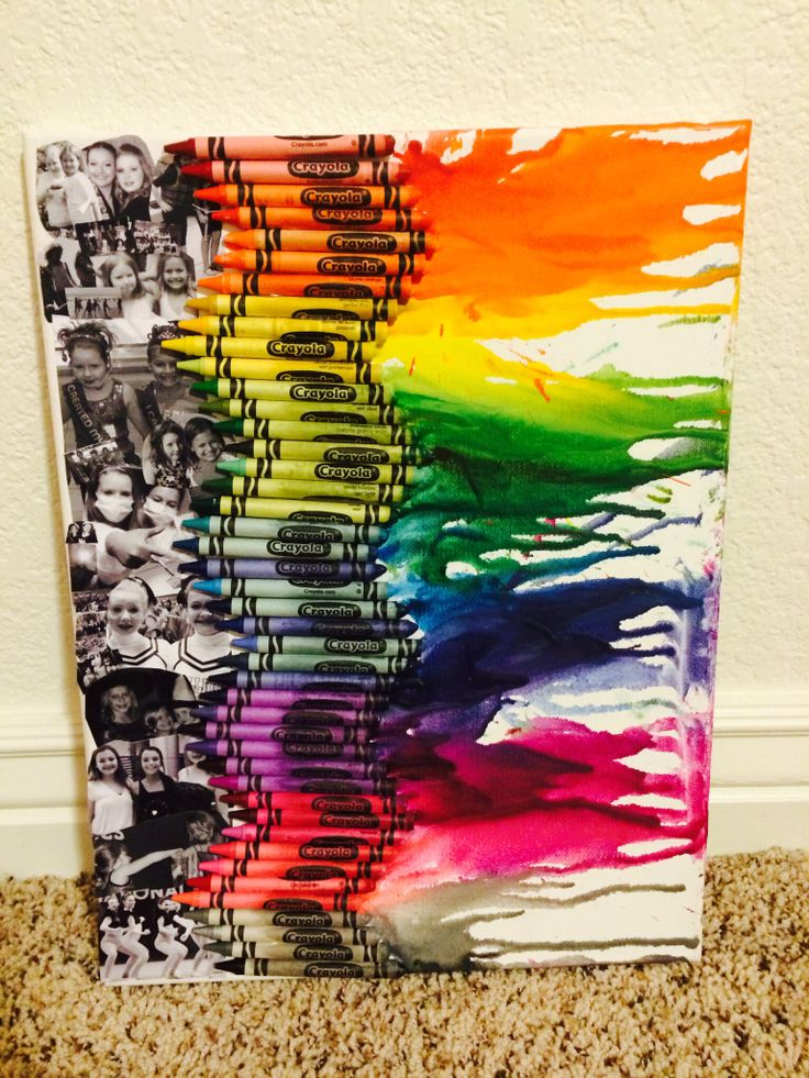 Friends Birthday Gift I Made By Doing Crayon Art Then