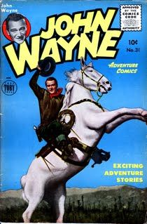 John Wayne Comic Books - Western Comics 1949 to 1958 (combining photograph photo covers and art painting covers)