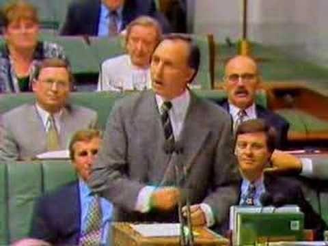 Paul Keating Vs. John Howard - Censure Motion Reply