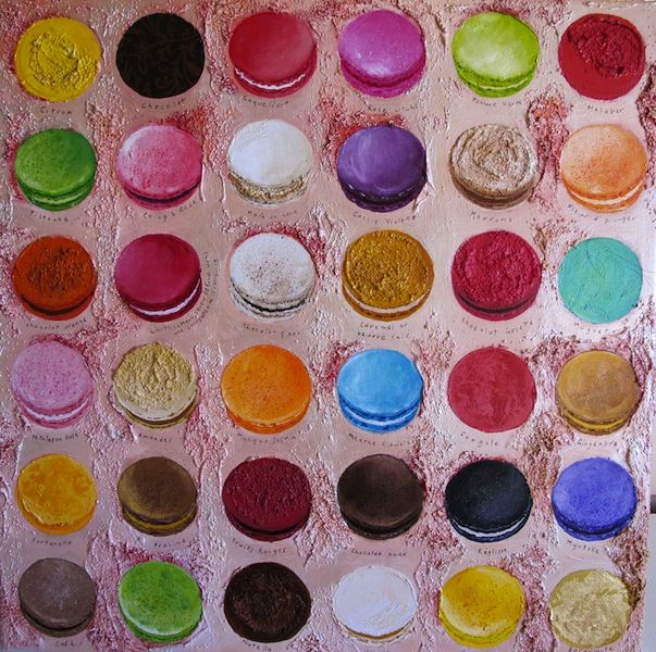Fabulous colours: Macaroons, Chun Macaroons, Color, Art, Canvas, Macaroons Chris, Painting, Chun S Macaroons, Chris Chun