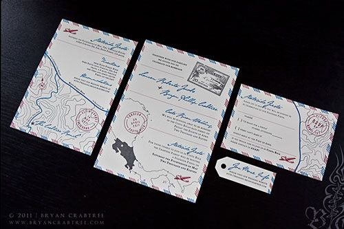 Airmail Wedding Invitations: 182 Best Images About Wedding Stationary On Pinterest