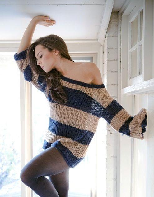 Dena Kaplan (love her!) But this sweater! Killer!