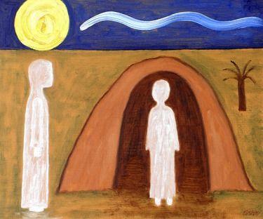 "Saatchi Online Artist Patrick J Murphy; Painting, ""THE RAISING OF LAZARUS"" #art"