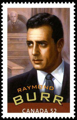 Canadian Literary Stamps: Erle Stanley Gardner (1889 – 1970), Raymond Burr