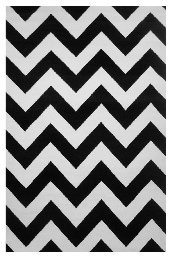 Botticelli Black/White Area Rug