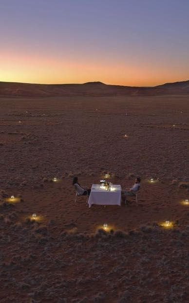 &Beyond Sossusvlei Desert Lodge - a destination desert oasis in Sossusvlei, Namibia. Timbuktu Travel.