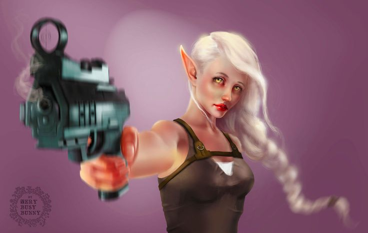 elf by very-busy-bunny  #art #digitalart #digitalpainting #elf #fantasy #girl_elf