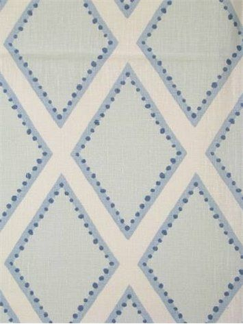 Brookhaven Chambrey | Sarah Richardson for Kravet fabric | blue and white fabrics