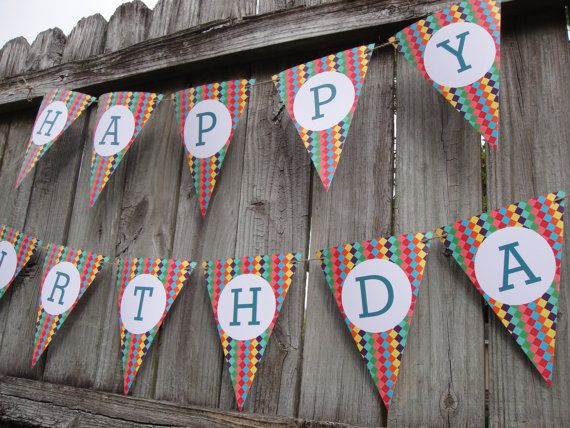 bunting banner.