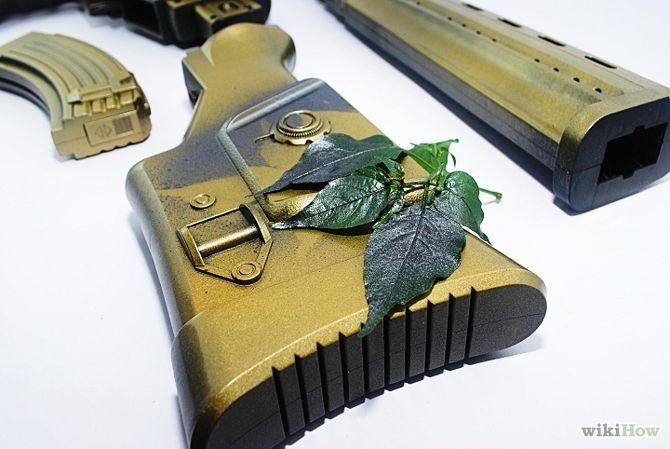 Do Camo Spray Paint Step 7 - Move the leaf, repeat