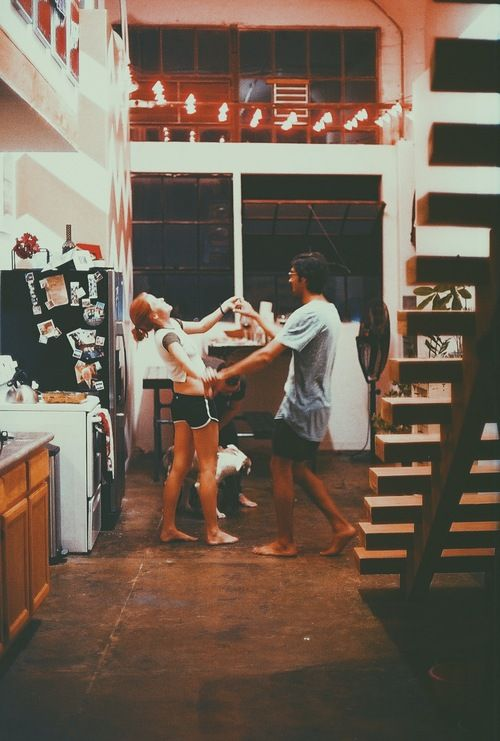 Late night kitchen dancing.