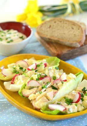 Sałatka wiosenna, idealna na wielkanocne śniadanie - więcej: http://www.mniammniam.com/Salatka_wiosenna__idealna_na_wielkanocne_sniadanie-20572p.html