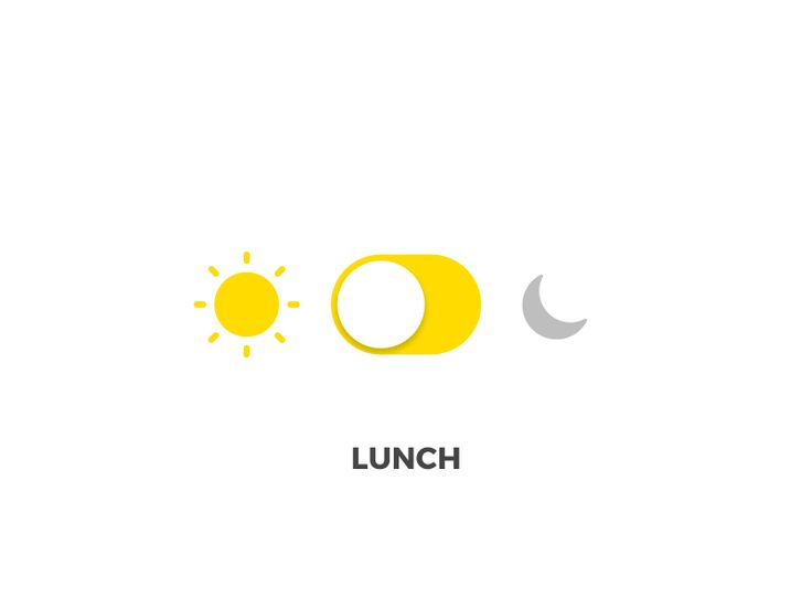 Lunch and Dinner toggle.