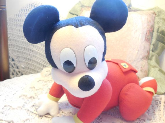 Crawling Baby Mickey Mouse Works by Daysgonebytreasures on Etsy