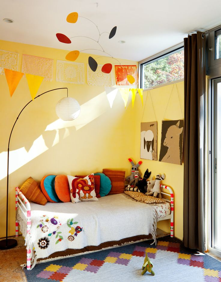 In the Catskills. Photo: Trevor Tondro for The New York Times: Wall Colors, Toddlers Rooms, Bedrooms Boys, Kids Bedrooms, Child Rooms, Boys Rooms, Toddlers Bedrooms, Bright Colors, Kids Rooms