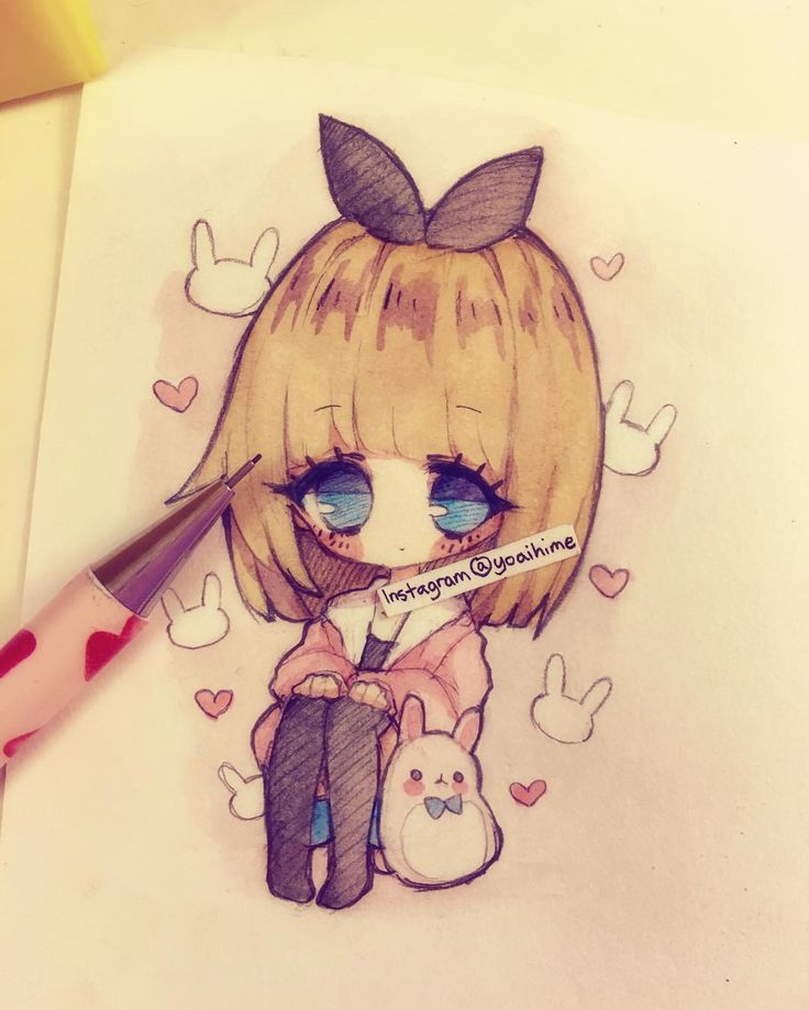 Chibi sketch (´・ω・`) blergh finally found some time to sit down and draw today…
