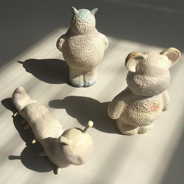 Toys 🐻🤖🐛#agceramica #ceramics #ceramica#ceramique#toys #ceramictoy #teddybear #teddy #monster #worm #caterpillar #ceramicart #art #design #arte #diseño #stoneware #CRArchive