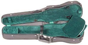 Bobelock Student 1007 Black/Green 1/2 Violin Case by Bobelock. $87.00. Bobelock quality for a small price. This is a 1/2 violin size case with black exterior and green velour interior without suspension. It also has an attached canvas cover with D-rings, an extra D-ring on the back and a neck restraint.