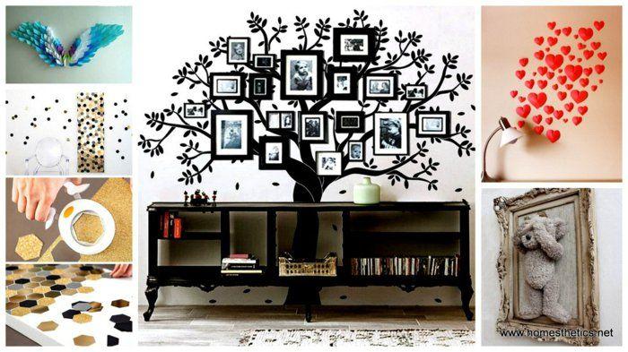 Diy wohnideen wandgestaltung originell dekorieren fotos for Diy wandgestaltung