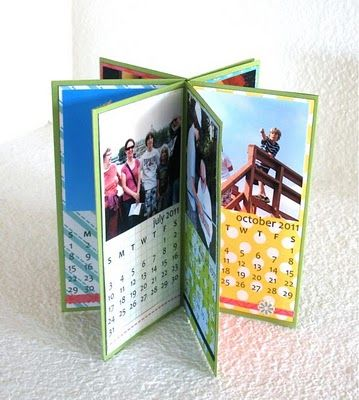 Great idea -just need to find the 2013 calendar pages. Kids would have fun making these for grandparents My mom is still using hers daily. *its april) I'm Gramma! I do LOVE this. Keep my work schedule in it, birthdays, and carry in my purse, no forgetting when you have a daily reminder in front of you!! <3