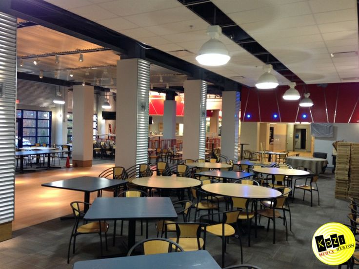 Kozi Media Design #KoziInfo installs background audio for a Pittsburgh college's cafe  with voice-over microphone when the order is up!