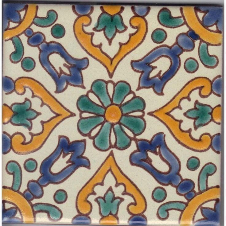 Borjine Handpainted Ceramic Tile