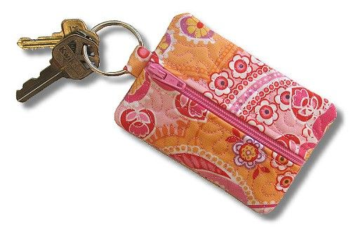 Zipper Pouch Blanks Keychain