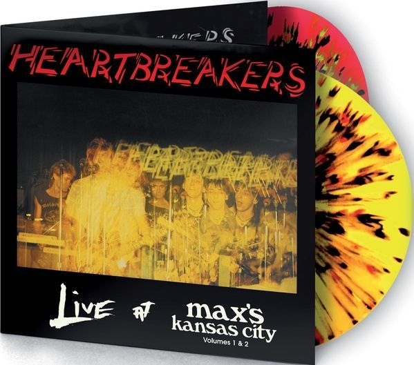 Live At Max's Kansas City Volumes 1 & 2, Album by The Heartbreakers . Record Store Day 2015 limited edition on multicoloured double vinyl. Collection of unusual, rare vinyl and unique colored collectible records.