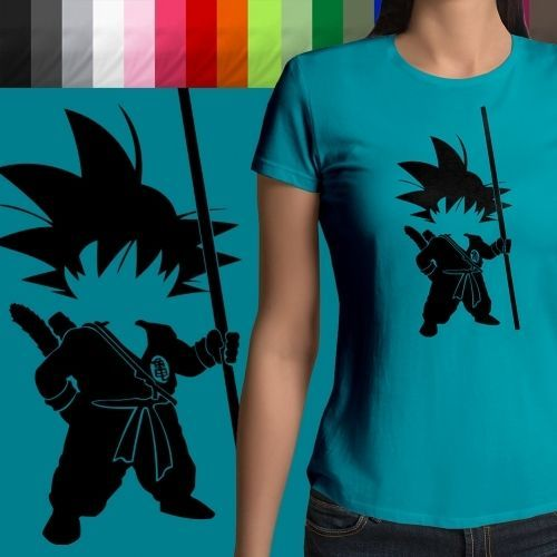 Details about Dragon Ball Young Son Goku Silhouette Ultra Soft Crew
