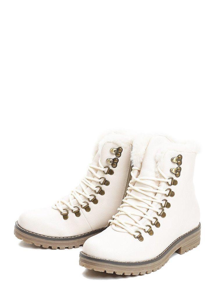 Ботинки женские зимние - купить бежевые ботинки кожаные для женщин