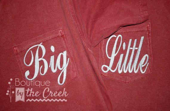 Comfort Colors Big Little Shirt, Sorority Rush, SororityReveal, Unisex Long…