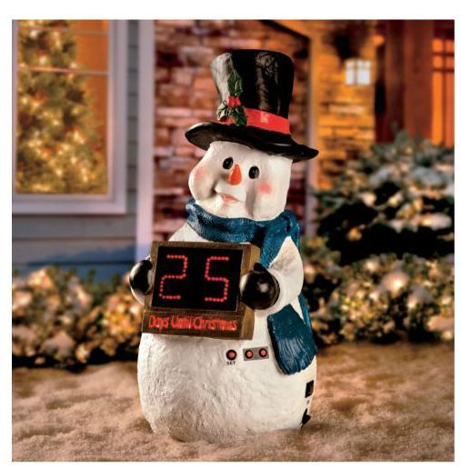 Cute snowman figure for an outside christmas decoration in for 36 countdown to christmas snowman yard decoration