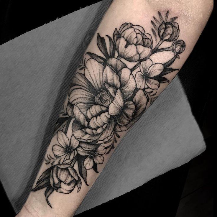 Tattoo Inspo Tatuajes Florales Tatuaje Flores Antebrazo