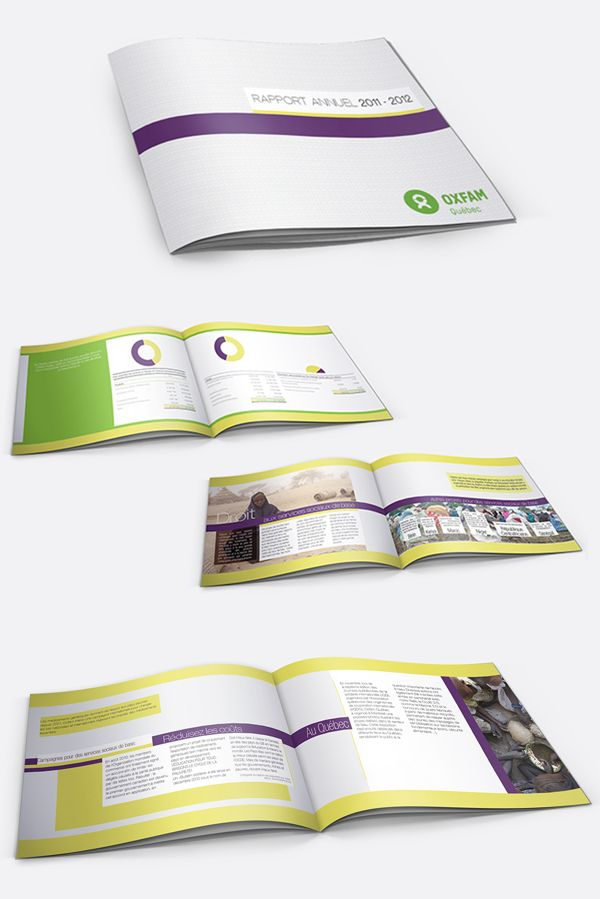 Rapport annuel - Oxfam on Behance