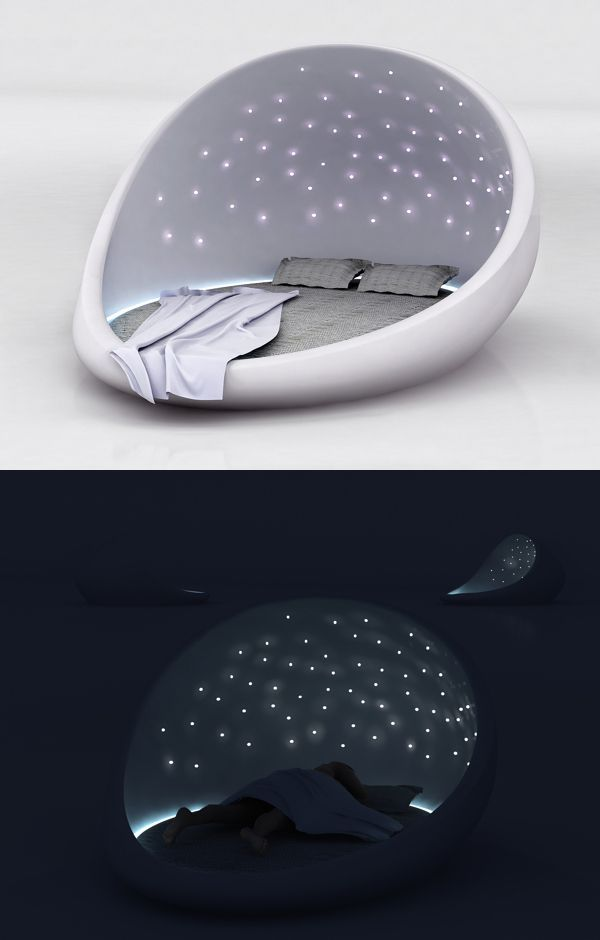 Saint Petersburg-based designer Natalia Rumyantseva created the Cosmos Bed as a way of letting you take the starry night sky home.