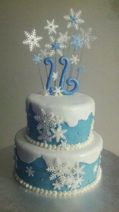 Sweet sixteen winter wonderland theme