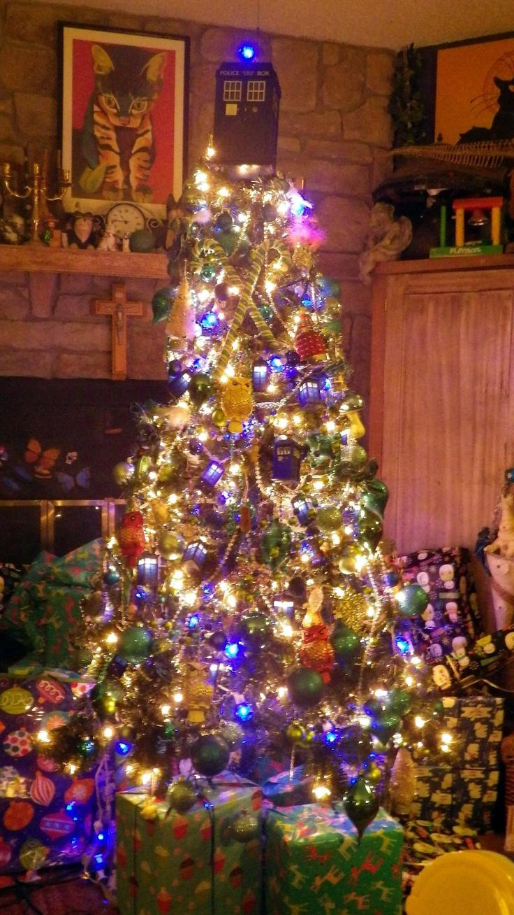 Doctor ornaments - Tardis Tree Topper Tardis Lights Tardis Dalek Ornaments Blue Globe Lights