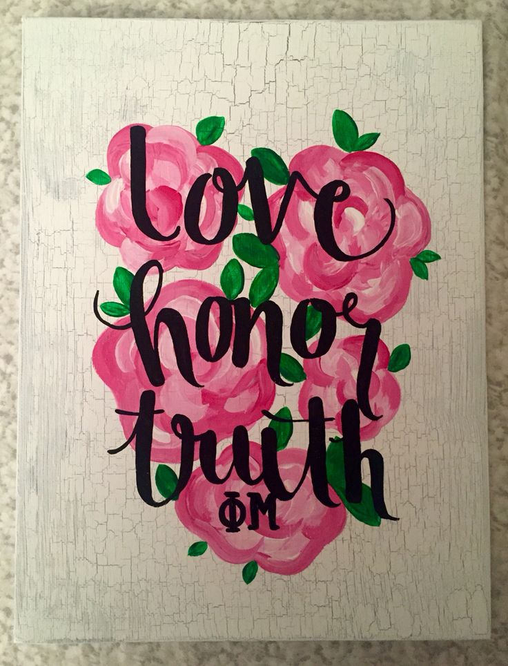 Love honor truth phi Mu by Mollyelizabethboutiq